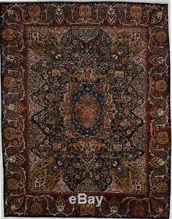 Astonishing Pictorial Signed Kashmar Oriental Wool Rug Area Carpet 10X13