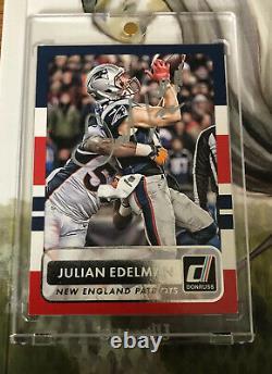 Auto Signed 2015 Donruss & Flying High Book New England Patriot Julian Edelman