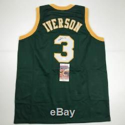 Autographed/Signed ALLEN IVERSON Bethel High School Basketball Jersey JSA COA