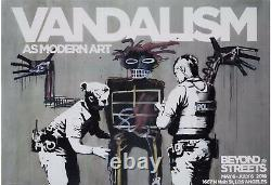 BANKSY VANDALISM Beyond The Streets 2018 Official Poster (Highly collectable)