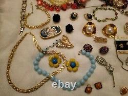 BIG LB ALL Vintage High End Jewelry Lot Signed Trifari Whiting Sosib Jone Rivers