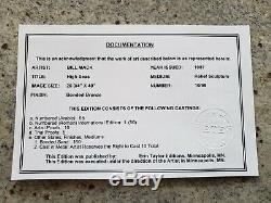 BILL MACK High Seas Original BRONZE Relief SCULPTURE
