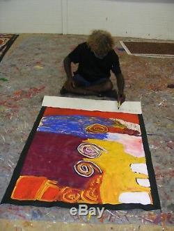 BOB GIBSON TJUNGURRAYI (Patjantja) 90cm x 150cm Highly Collectible