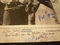 BUD SPENCER (+) & ELI WALLACH (+) signed Autogramm auf ACE HIGH Bild InPerson