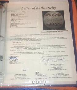 Babe Ruth Signed Baseball Sweet Spot JSA Large Bold High Grade New York Yankees