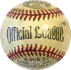 Babe Ruth Signed Baseball Sweet Spot PSA Large Bold High Grade New York Yankees