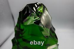 Baccarat Crystal Iceberg, Glass Ice Chunk Sculpture, Large 8 high Green