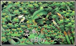 Balinese Painting Having Fun Together Incredible! (54 Wide x 33 High)