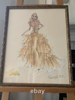 Barbie HIGH FASHION Model Collection Robert Best Print Art Framed No 0062/5000