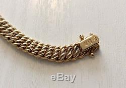 Beautiful Ladies High Quality Hallmarked & Signed UnoAErre 9ct Heavy Bracelet