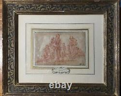 Beautiful high quality old master drawing probably dutch signed 1700 NR
