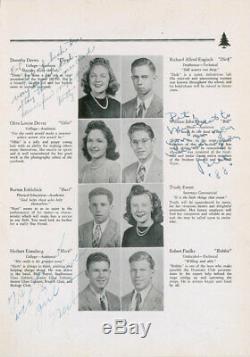 Bill EVANS (Jazz) Signed High School Yearbook