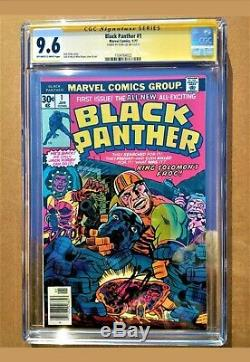 Black Panther #1 High Grade! CGC 9.6 Rare Jack Kirby Art Signed by STAN LEE