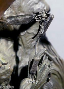 Bronze Signed Mathurin Moreau Libellule 33 High Sold At Auction For 20k
