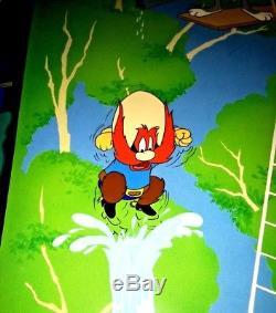 Bugs Bunny Yosemite Sam Warner Brothers Cel High Diving Sam Signed Virgil Ross