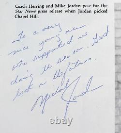 Bulls Michael Jordan Authentic Signed 1981 Laney High School Yearbook JSA