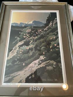 Byron birdsall Signed Print. Famous Alaskan Artist. Mountain High