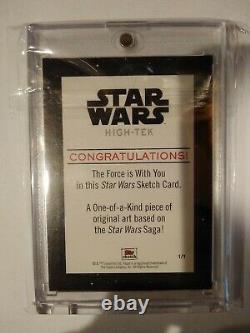 CARLOS CABALEIRO Topps Star Wars High-Tek Sketch Card Wicket 1/1