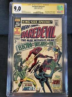 CGC SS Daredevil annual 1. From 1967. Signed By Stan Lee! High Grade 9.0. Rare