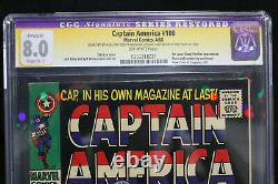 Captain America #100 CGC Restored 8.0 STAN LEE SIGNED! (Marvel) HIGH RES SCANS