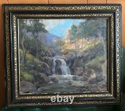 Circa 1925 POOLE 21x24- Afternoon High Sierra California Oil on Canvas