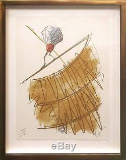 Claes Oldenburg Shuttlecock On A High Wire 1995 Signed Print Others Avail