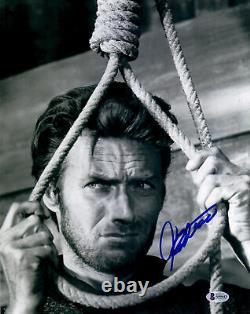 Clint Eastwood Autographed 11x 14 Hang Em High Photo Beckett BAS LOA
