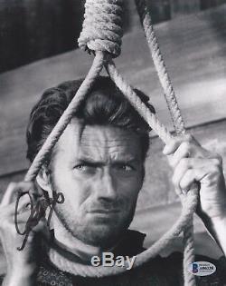 Clint Eastwood Signed Hang'Em High 8x10 Photo Beckett BAS A06338