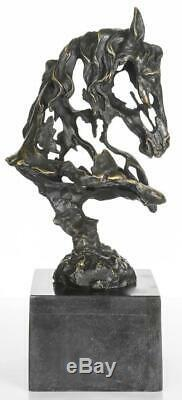 Contemporary Bronze Sculpture Bust of a Horse 42cm High Signed