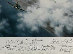 Coulson High Spirits SPITFIRES WW2 PILOTS multi-signed Battle of Britain LTD ED