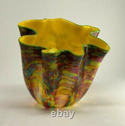 Dale Chihuly CARNIVAL MACCHIA Impressive 18 high signed art glass