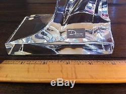 Daum France Vintage Signed Crystal Rearing Horse 13 High with original paper wk