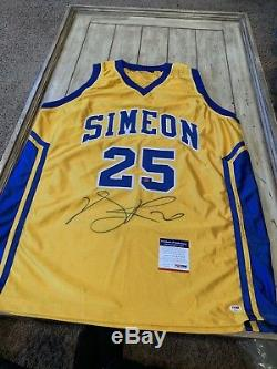 Derrick Rose Autographed/Signed Jersey PSA/DNA Chicago Bulls Simeon High School
