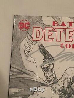 Detective Comics #1000 Jim Lee Signed B/W Variant! COA! 124/250 High Grade
