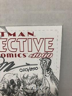 Detective Comics #1000 Jim Lee Signed B/W Variant! COA! #20/250 High Grade