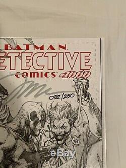 Detective Comics #1000 Jim Lee Signed B/W Variant! COA! 32/250 High Grade