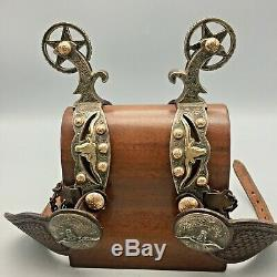 Double Mounted Spurs with Gold and Silver by Steve Schmitt Highly Collectible
