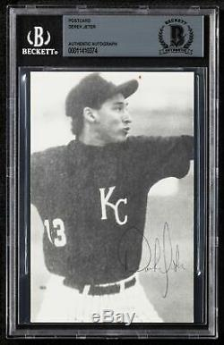 Earliest Known Derek Jeter Signed 1990 Kalamazoo High School Baseball Card BGS
