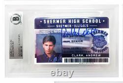 Emilio Estevez Signed Breakfast Club Andrew Clark High School ID Card BECKETT