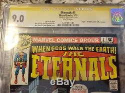 Eternals #1 CGC 9.0 signed by Stan Lee Beautiful High Grade Book