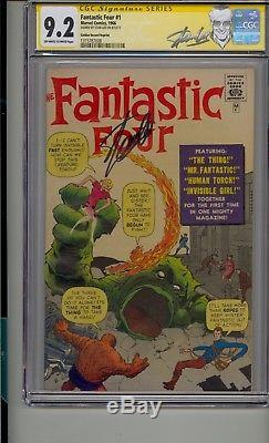 Fantastic Four #1 Cgc 9.2 Ss Signed Stan Lee Grr Golden Record High Grade Rare