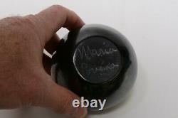 Fine Maria Martinez Gun Metal High Polish Pottery Bowl Signed Maria Poveka