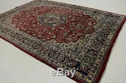 Floral Traditional Handmade 8X11 Vintage Signed Oriental Rug Home Decor Carpet