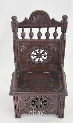 French Brittany Miniature Salesman Sample High Back Chair Lift Seat 11 Signed