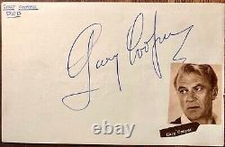 GARY COOPER AUTOGRAPHED Hand SIGNED ALBUM PAGE 1950's RON RANDELL HIGH NOON