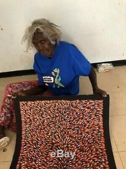 GLORIA PETYARRE, Highly Collectable Aboriginal Art, Medicine leaves, 120 x 60cm