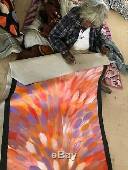 GLORIA PETYARRE, Highly Collectable Aboriginal Art, Medicine leaves, 150 x 100cm