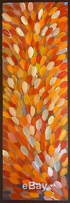 GLORIA PETYARRE, Highly Collectable Aboriginal Art, Medicine leaves, 180 x 60cm