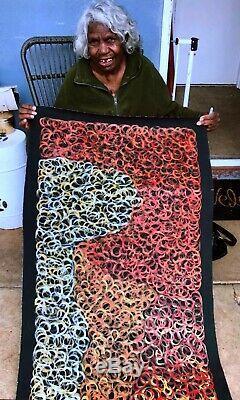 GLORIA PETYARRE, Highly Collectable Aboriginal Art, Mountain Lizard, 180 x 60cm