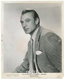 Gary Cooper 1949 Signed Album Page Comes with Original 1952 High Noon Still